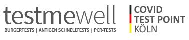 testmewell | Covid Test Point – Kostenloser Bürgertest | Testzentrum Köln Logo